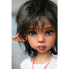 BJD by Kaye Wiggs face up by Karina Clay Fairies, Elves And Fairies, Clay Dolls, Bjd Dolls, Masha Doll, Baby Fairy, Paperclay, Doll Repaint, Fairy Art