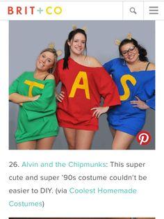 Alvin & the chipmunks best friend costume ideas  best friend teen costume Halloween after prom