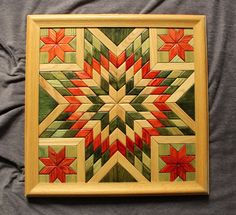 Wooden Quilt Wooden Wall Quilt by TreeLineWoodProducts on Etsy