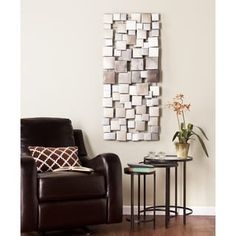 Wavson Wall Sculpture - Holly & Martin a total square. Add a touch of the abstract to your home with the Wavson Wall Sculpture that features squares of varying sizes in a metallic ombre finish. Hang it horizontally or vertically to fit your space Decor, Metal Wall Sculpture, Wall Sculptures, Wall Decor, Home Decor, Geometric Tiles, Cool Walls, Contemporary Home Decor, Wall Sculpture Art