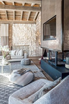 The Luxor chalet in Megeve House Design, Mountain Interiors, Interior, Home, Megeve, Scandinavian Home, Home Styles, Winter House, Rustic House