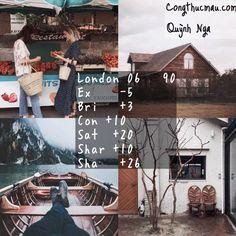 Công thức Analog London 4 tone màu tươi trên Instagram - Công thức màu