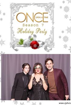 Lana, Andrew and Jared at the Season 7 Holiday Party on December Once Cast, It Cast, Once Upon A Time, Ouat Season 7, Best Shows Ever, Holiday Parties, Seasons, Celebrities, Instagram Posts