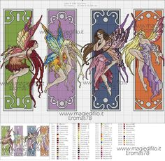 Fairy Graphics Four fairies cross stitch Dragon Cross Stitch, Cross Stitch Fairy, Fantasy Cross Stitch, Cross Stitch Angels, Cross Stitch Love, Cross Stitch Bookmarks, Cross Stitch Books, Cross Stitch Needles, Cross Stitch Pictures