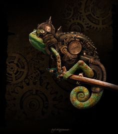 #Steampunk Tendencies | Kajenna #Digitalart #Chameleon