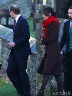 Trh the duke and duchess of cambridge attended family St mark s church englefield
