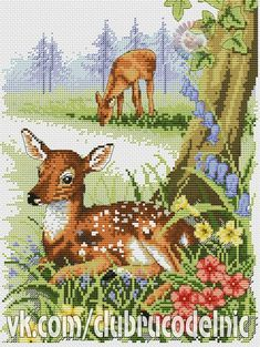 VK is the largest European social network with more than 100 million active users. Cross Stitch Designs, Cross Stitch Patterns, Cross Stitch Landscape, Cross Stitch Animals, Needlepoint Canvases, Silk Painting, Hobbies And Crafts, Hand Embroidery, Moose Art
