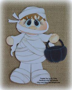 Mummi Halloween Premade Scrapbooking Embellishment by MyCraftopia