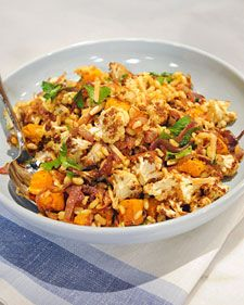 #Kamut® Brand Khorasan Wheat Berry Pilaf with Butternut Squash and Cauliflower recipe.