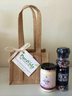 Mini Gourmet Organic Gift Hamper - Chefs Choice Pink Rock Salt and Organic Pepper Grinder and Chefs Choice Organic Aioli. Perfect gift for Easter lunch or that special someone