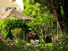The Dolomites, Bolzano, Hotel Park Lauren Gardens by Laura Gurton, via Flickr Northern Italy, Gazebo, Gardens, Outdoor Structures, Cabin, Explore, Park, House Styles, Home Decor