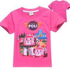 >> Click to Buy << New 2017 Summer Short Sleeve Cartoon Kids Girls T Shirt New Cute Robocar Poli Baby Girls T-shirt Children Clothes Tops Tees #Affiliate