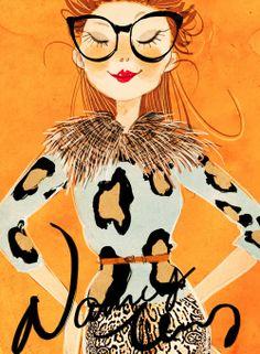 Fashion Illustrations- Lovely leopard prints.