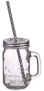 Preserving Jar with Straw