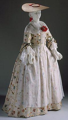 Robe à la Française - 1750-1775 - The Los Angeles County Museum of Art