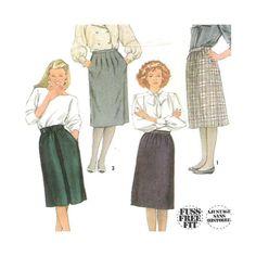 Simplicity 7679 Vintage Pattern Misses Skirts  Size 14 Uncut Fuss Free Fit