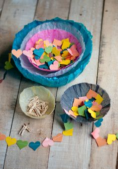 {pretty tissue paper bowls} a simple & rewarding craft