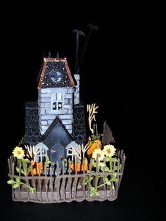 Handmade Recycled Cardboard 9x6x2 5 Halloween Putz House