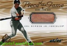 """Not Sold Out, But Coming Soon""  ""Stay Tuned to Twitter""  2001 Upper Deck SP Game Bat Edition Piece Of The Game Gold  #CR Cal Ripken Jr. #'d to   25   $NA"