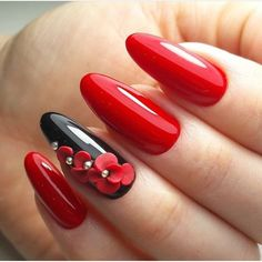 Red Nail Art for Valentines Day: Eclectic stories of Red, that& tastefully sophisticated Red nail designs for valentine's day are just perfect. If you love Nail art designs, then you would love to look at these Nail art ideas in Red for V Day. Red Nail Art, Red Art, Red Black Nails, Purple Nail, Nagel Blog, Red Nail Designs, Beautiful Nail Art, Beautiful Pictures, Nail Trends