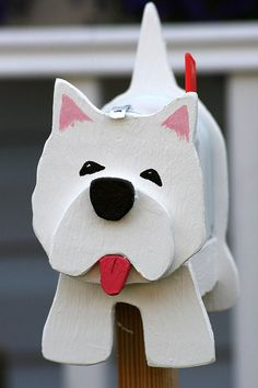 Westie mail ;) Not sure I would ever do this, but its cute!
