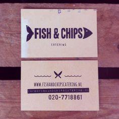 visitekaartje voor Fish & Chips catering