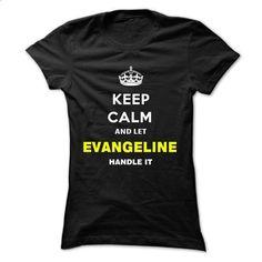 Keep Calm And Let Evangeline Handle It - #golf tee #hoodie tutorial. SIMILAR ITEMS => https://www.sunfrog.com/Names/Keep-Calm-And-Let-Evangeline-Handle-It-lbnbi-Ladies.html?68278