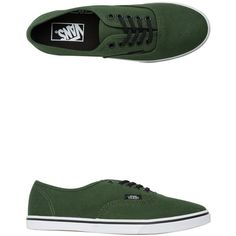 Vans Authentic Lo Pro Shoe ($45) ❤ liked on Polyvore featuring shoes, sneakers, green, green sneakers, vans sneakers, vans shoes, vans footwear and waffle shoes