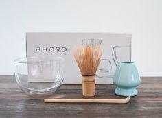 Set de Matcha // Ideal para la preparación de Matcha. Incluye el bowl de vidrio, medidor de té y batidor de bambú.