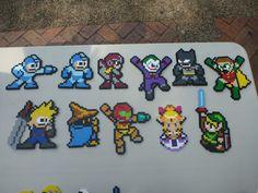 Medium Perler Bead Sprites - Megaman, Final Fantasy, Batman and more. $4.50, via Etsy.
