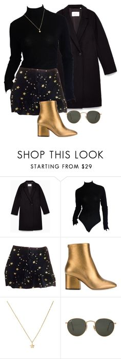 """Untitled #161"" by carysdicker ❤ liked on Polyvore featuring Donna Karan, Claudie Pierlot, Salvatore Ferragamo and Ray-Ban"