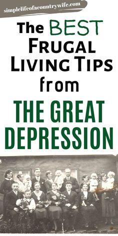 Easy Gifts To Make, Depression Era Recipes, Making A Budget, Great Depression, Financial Information, Frugal Living Tips, Useful Life Hacks, Survival Tips, Money Saving Tips