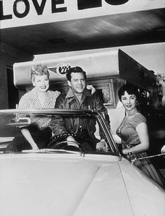 """Lucille Ball, Desi Arnaz and Elizabeth Taylor in """"The Long, Long Trailer"""""""