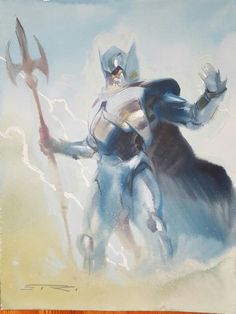 ODIN the allmighty Godfather , in Christian Ahlers's Commissions Comic Art Gallery Room Character Creation, Character Art, Character Design, Hq Dc, The Mighty Thor, Marvel Comics Art, Manga Characters, Fantasy Inspiration, Comic Book Artists