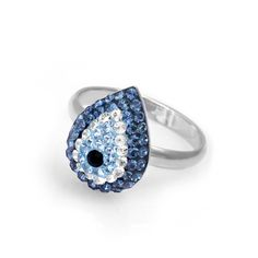 Sterling Silver Evil Eye Cz Ring - Unique Evil Eye Jewelry and Charm Designs by Evil Eye Store ®