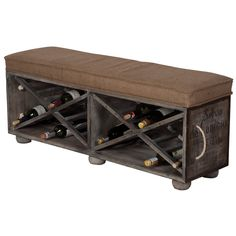 Large Wine Crate Ottoman