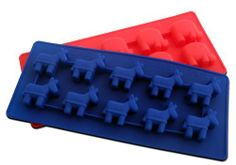 """""""Undecided Party"""" Silicone Ice Cube Trays and Baking Molds with One (1) Republican 'Elephant' Tray and One (1) Democratic 'Donkey' Tray, Made from Flexible and Eco-Friendly, Food-Grade Silicone, 2 Trays by NicecubeZ. Save 40 Off!. $11.99. This Version Offers One (1) Democratic 'Donkey' Tray and One (1) Republican 'Elephant' Tray!. The Perfect Housewarming or Cocktail Party Gift!. Eco-friendly Food-grade Silicone Can Withstand Temperatures from -40 to +425 Farenheit!. Flexible M..."""