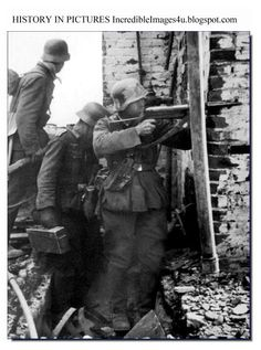 "German soldiers in Stalingrad. A German joke popular amongst the soldiers fighting there;""Our troops have captured a two-room apartment with kitchen, toilet and bathroom, and managed to hold two-thirds of the apartment, despite heavy enemy counterattack."""
