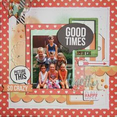 Sassy Scrappers-  Teresa Collins Daily Stories use clear tittle in t Collins project life box
