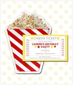 Love this idea for a movie themed birthday party!
