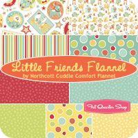 Little Friends Flannel Fat Quarter Bundle Northcott Cuddle Comfort Flannel for Northcott Fabrics
