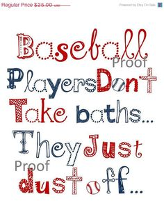 Baseball players...