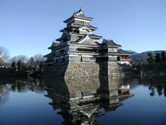 """Matsumoto Castle Also known as Matsumotojo, this is one of Japan's oldest castles. It was constructed as a """"hirajiro"""" or a castle that is built on the plains rather than in the mountains as is often done in Asia. Beautiful Castles, Beautiful World, Real Madrid, Places To Travel, Places To See, Japan Honeymoon, Monumental Architecture, Japanese Castle, Japan Image"""