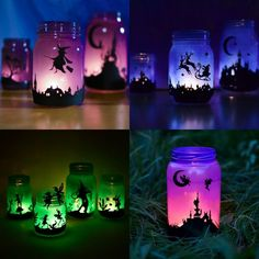 Turn mason jars into a set of fairy lanterns with frolicking silhouettes of enchanted creatures! Update! You can watch a video of me making lanterns here. The post contains affiliate links for your convenience. Two years ago, I made a set of Halloween and Christmas lanterns, and have since had readers asking questions and offering their …