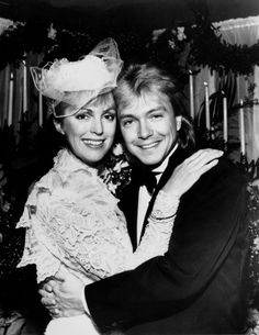 Actor and singer David Cassidy embraces his second wife, Meryl Tanz who was a horse breeder from South Africa, in Easton, Maryland, on Dec. They divorced in May Star Wedding, Wedding Couples, Wedding Pictures, Wedding Day, Free Wedding, Celebrity Wedding Photos, Celebrity Couples, Celebrity Weddings, David Cassidy