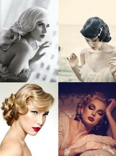 Old Hollywood wedding make-up inspiration.