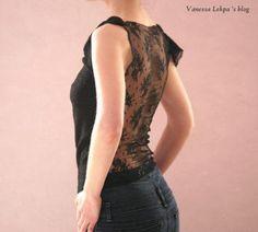 tuto couture pas à pas vanessa lekpa top en dentelle noire ultra féminin très sexy glamour transparent
