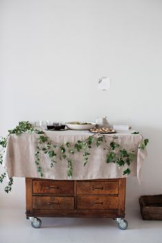 rustic yet elegant buffet/bar ~ love it - SIMPLE AND PRETTY TABLE DECORATION | 79 Ideas