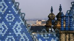 Zsolnay tiles on the roof of the Geological Institute of Budapest Capital Of Hungary, Budapest Travel, Glass Brick, Heart Of Europe, Central Europe, Budapest Hungary, Art And Architecture, Geology, Night Life