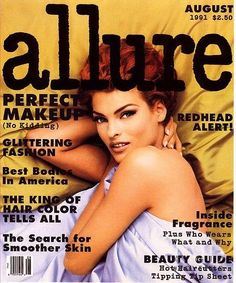 Linda Evangelista Allure Magazine August 1991 Makeup By Kevyn Aucoin photography by Steven Meisel